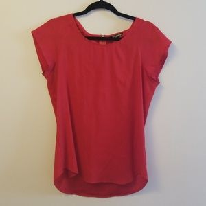 Silky Express blouse short sleeve red